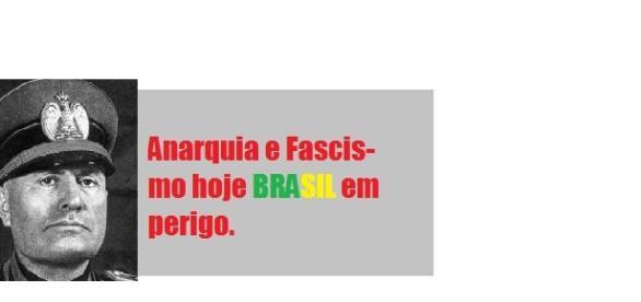 Anarquia e Fascismo hoje, Brasil em perigo.