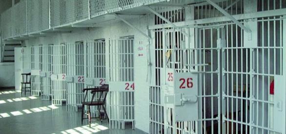 Un'immagine delle celle di un penitenziario