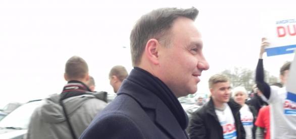 A.Duda podczas kampanii prezydenckiej. Fot.K.Krzak