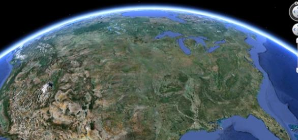 imagine din satelit prin Google Earth