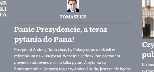 Lis atakuje na łamach naTemat.pl