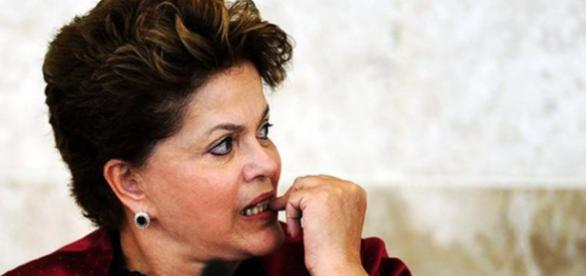Dilma preocupada. Foto: Divulgação.