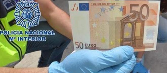 Detenido con un billete falso robado en una pizzería de Málaga