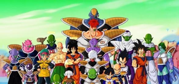 Algunos de los personajes de Dragón Ball Z