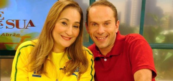 Sonia Abrao ao lado de Rafael Ilha