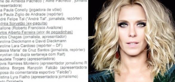 A atriz global Carolina Dieckmann está na lista