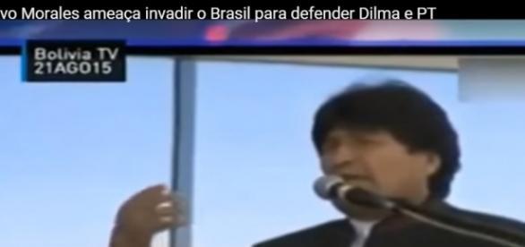 Evo Morales apoia Dilma, Lula e PT
