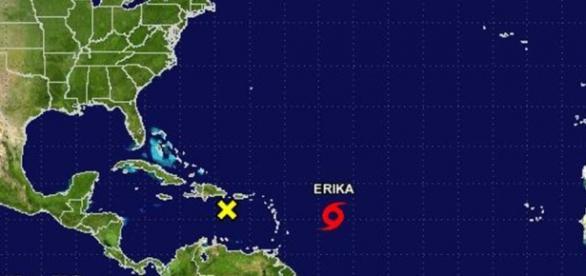 Érika asoló Puerto Rico y se dirige hacia Florida
