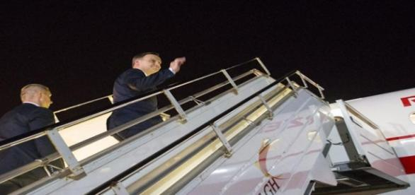 Prezydent A. Duda wraca z Estonii