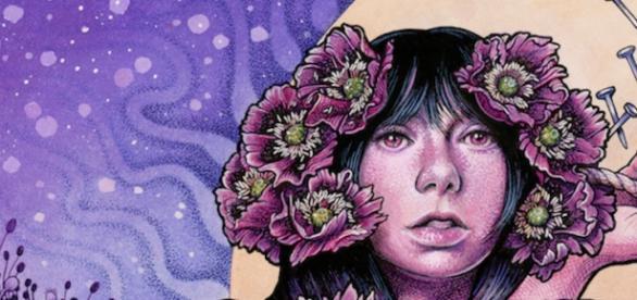 A capa do novo álbum dos Baroness, Purple