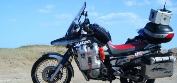 Mi motocicleta equipada antes de partir