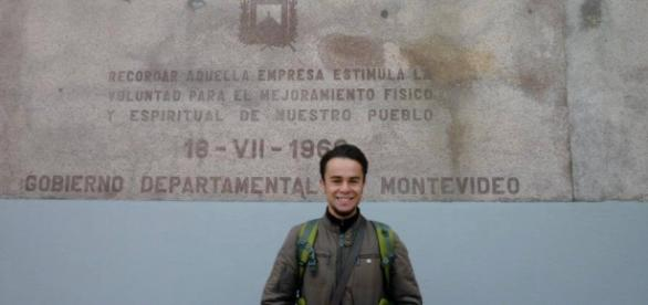 Óscar Álvaro, el joven detenido en México