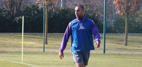 Imagen del futbolista en un entrenamiento