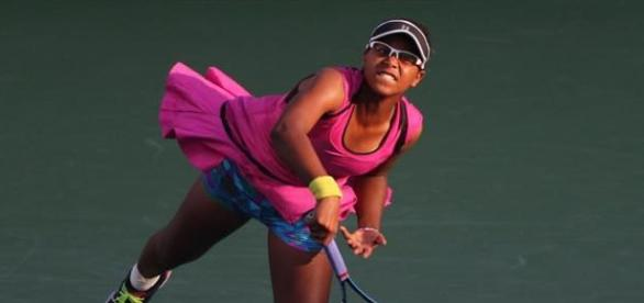 Victoria Duval disputando el US Open 2014.