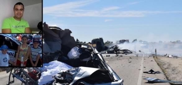A infracção aconteceu na zona deste acidente.