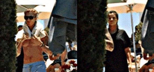 Justin e Selena foram vistos em piscina de hotel
