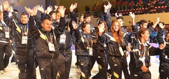 Delegación argentina en olimpiadas especiales 2015