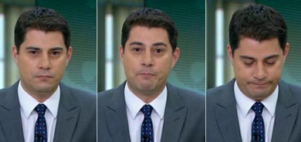 Evaristo Costa se emociona ao vivo