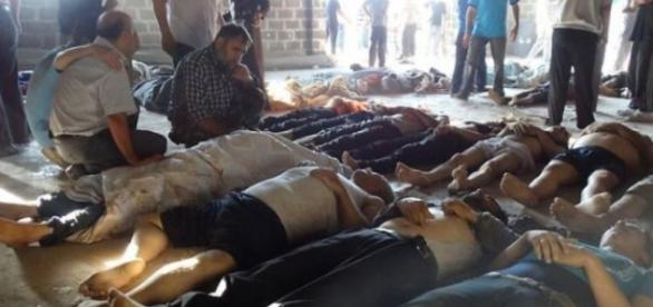 Bodies of people killed by ISIS