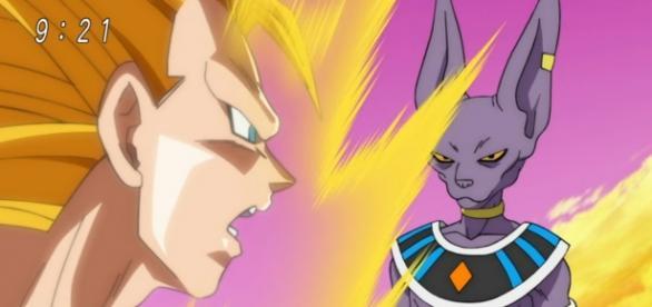 Goku sorprendido por el inmenso poder de Bills