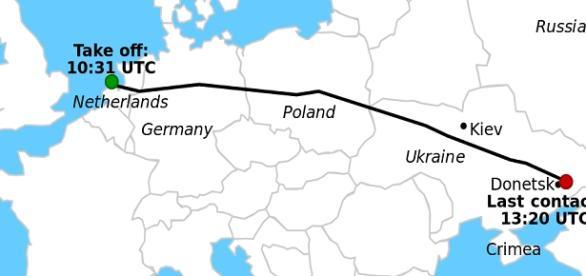 El avión fue derribado en Ucrania.