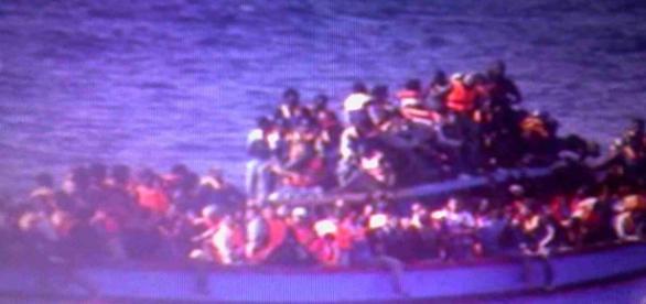 Emigrantes en camino hacia Europa