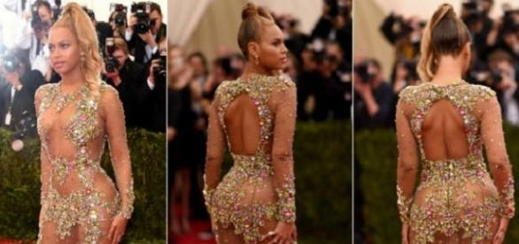 Beyoncé com vestido Givenchy no Met Gala 2015