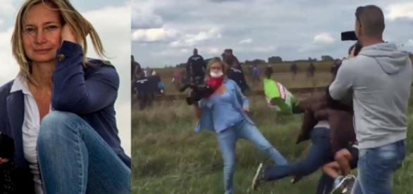 Jurnalista care a impiedicat un imigrant