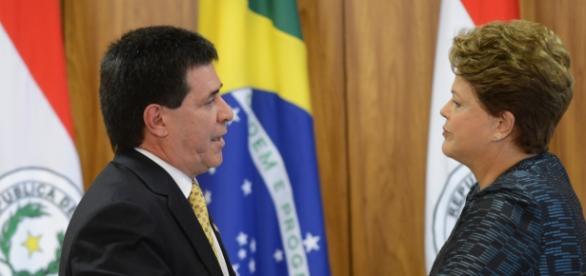 Presidente paraguaio Horacio Cartes no Brasil.