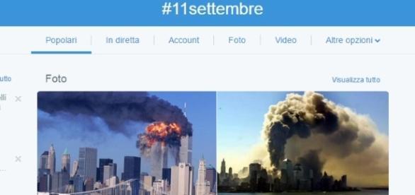 Un social e l'hashtag 11 settembre