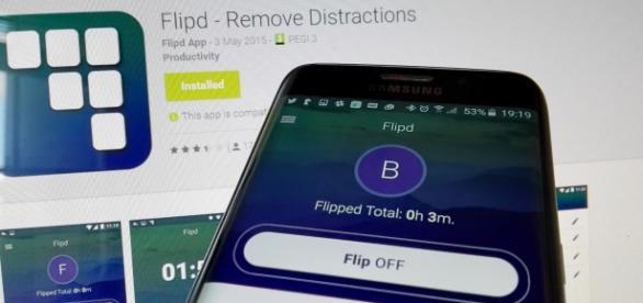 App FlipD. Fuera distracciones