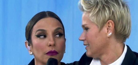 Ivete Sangalo e Xuxa (Foto reprodução Record)
