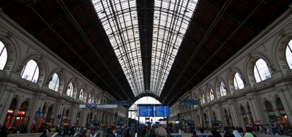 Dworzec Keleti, miejsce postoju wielu uchodźców.