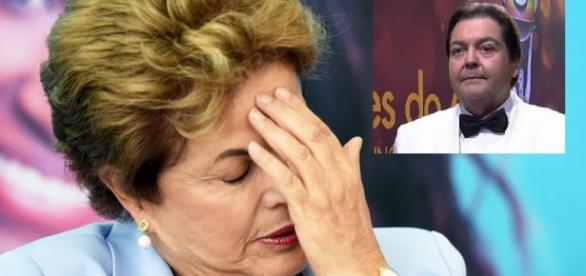 Faustão ataca governo ao vivo na Globo