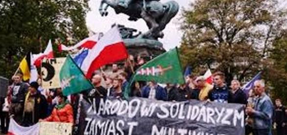 Manifestacja zwolenników przyjęcia uchodźców