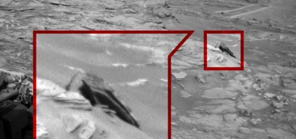 Uma aparente nave acidentada - Imagens CNN/NASA