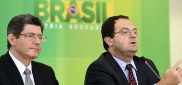 Joaquim Levy e Nelson Barbosa (BBC/Reprodução)