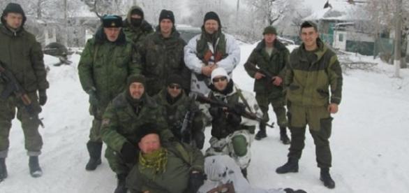 Bondo Dorowskich z oddziałem na froncie w Donbasie