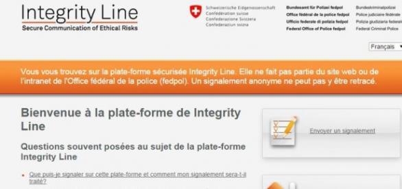 Web Integrity Line anticorrupción
