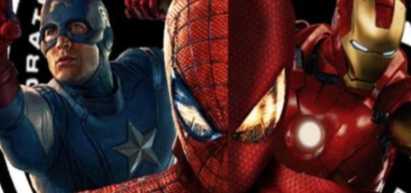 Captain America trifft auf Fanliebling Spiderman