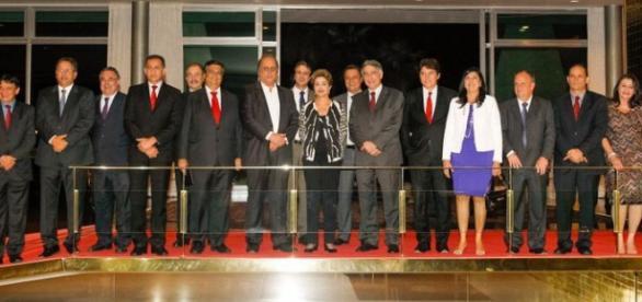 Dilma pediu apoio ao gestores estaduais em jantar