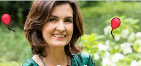 Fátima Bernardes se emociona na Globo