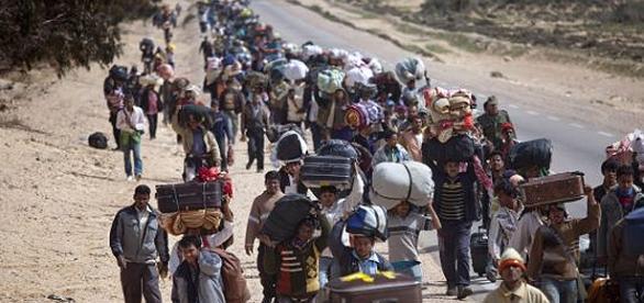 Grupo de sírios segue trajeto a caminho da Europa