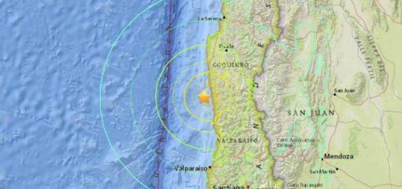 Región de Coquimbo, epicentro del terremoto