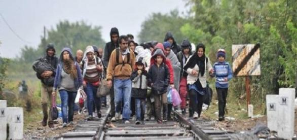 Wędrówka imigrantów. Główny cel: Niemcy