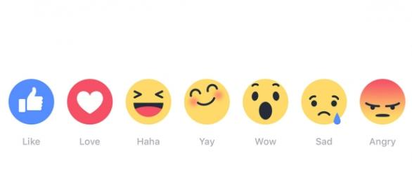 "Facebook new ""Reactions"" buttons"