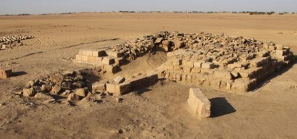 I resti di una delle piramidi scoperte in Sudan