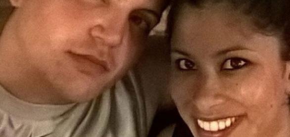 Fidel Lopez com a namorada Maria Nemeth