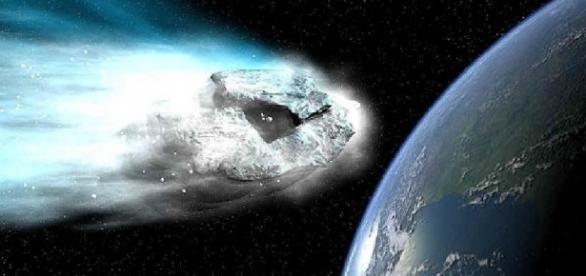 Asteroide impactando sobre la Tierra