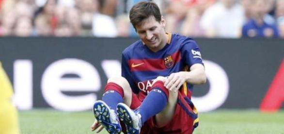 Messi kontuzjowany w meczu z Las Palmas